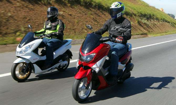Yamaha NMax 160, que custa R$ 11.390, enfrenta o Honda PCX 150, que sai por R$ 10.814