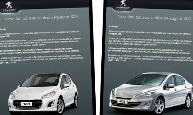 Peugeot oferece sistema antivandalismo