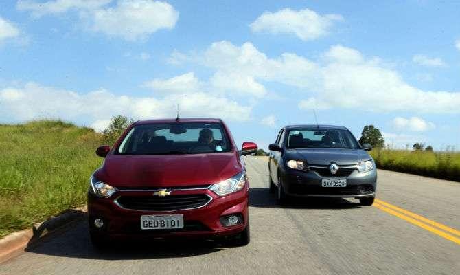 Chevrolet Prisma encara Renault Logan com motor novo