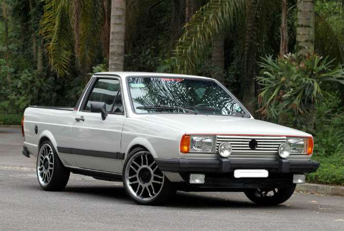 Picape recebeu detalhes de Gol GT recriados pelo dono e até peças de outros modelos da Volkswagen