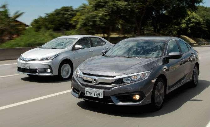 Toyota Corolla x Honda Civic: confira qual é o melhor