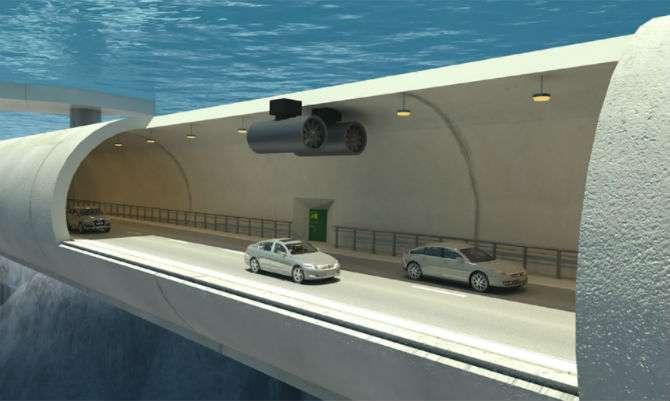Noruegueses querem construir túneis flutuantes no mar