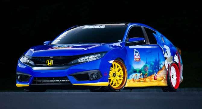 Honda cria Civic para celebrar 25 anos de Sonic The Hedgehog