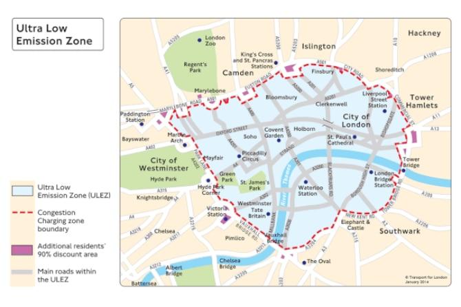 Londres vai cobrar pedágio de carros poluentes