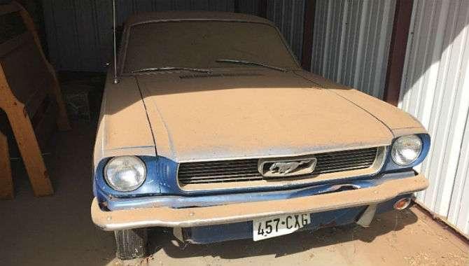 Mustang terá novo dono após anos parado