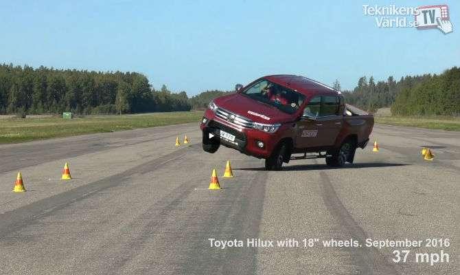 Toyota Hilux mostra comportamento perigoso em teste