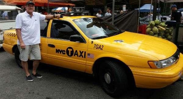 Táxi de NY. Em SP