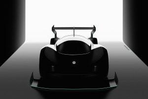 Carro de corrida elétrico da Volkswagen