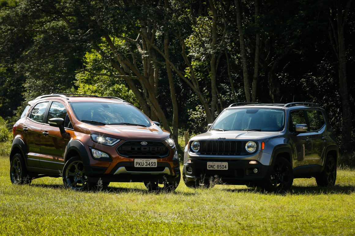 Ford EcoSport Storm 4WD e Jeep Renegade Night Eagle