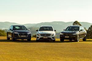 SUVs Audi BMW Mercedes-Bens carros de luxo