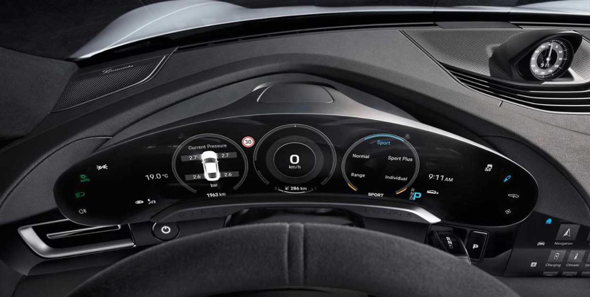 Porsche-Tycan-painel