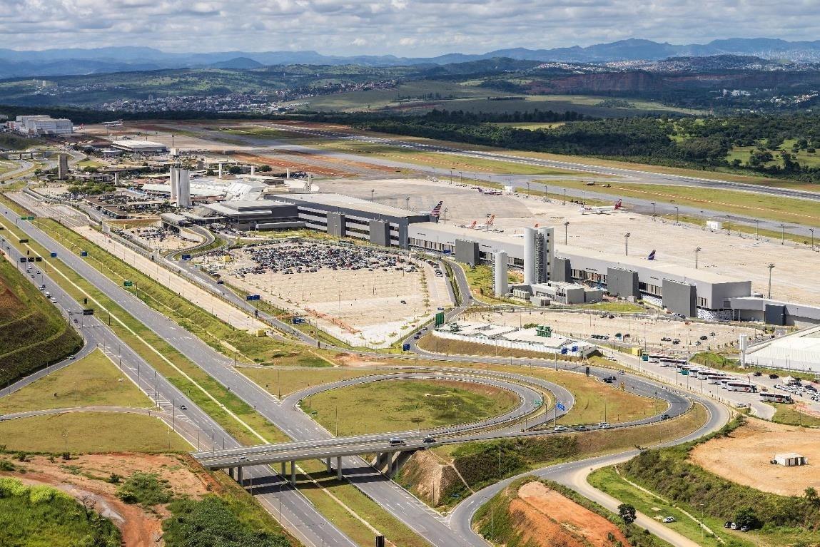 baterias elétricas, confins, aeroporto