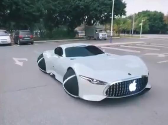 Vídeo viral que mostra carro ad Apple é fake