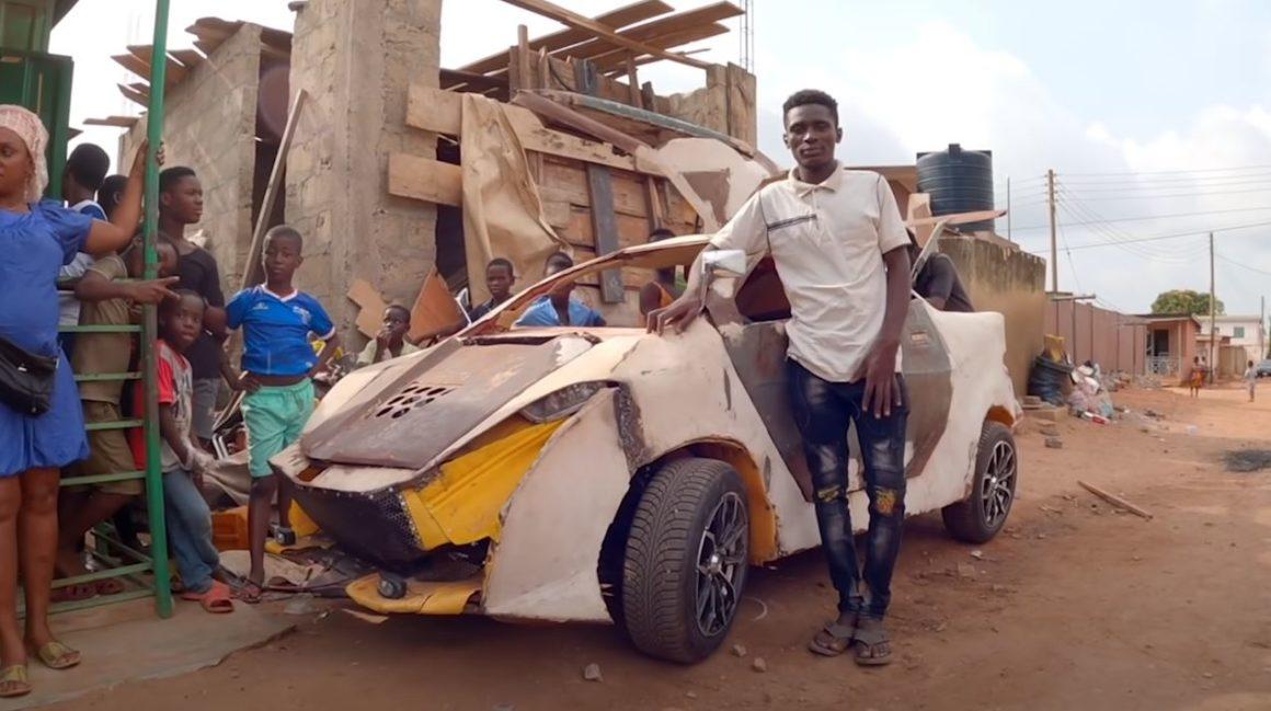 Jovem ganês constrói um veículo com US$ 200