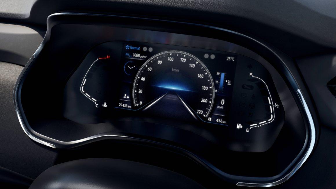 Versões mais caras do Renault Kiger terão quadro de instrumentos em tela colorida