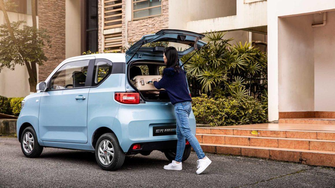 Carro elétrico chinês Wuling Hong Guang Mini EV