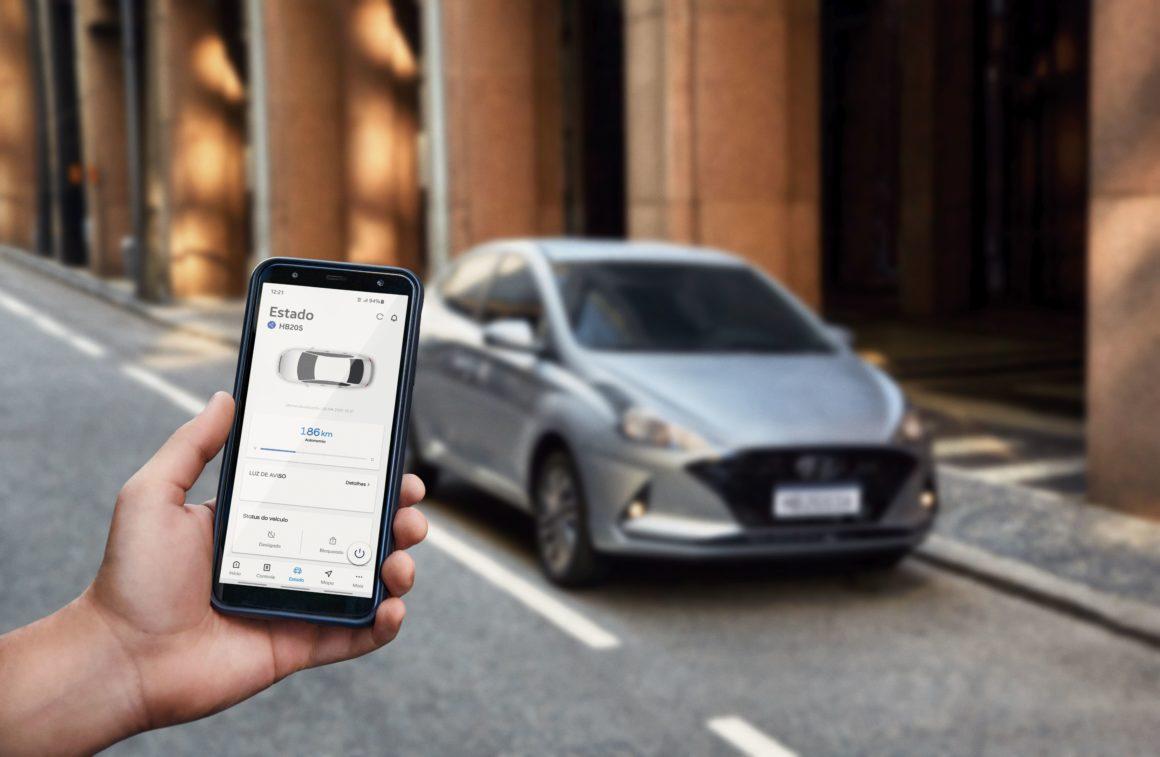 Hyundai HB20 terá conectividade pela plataforma Bluelink
