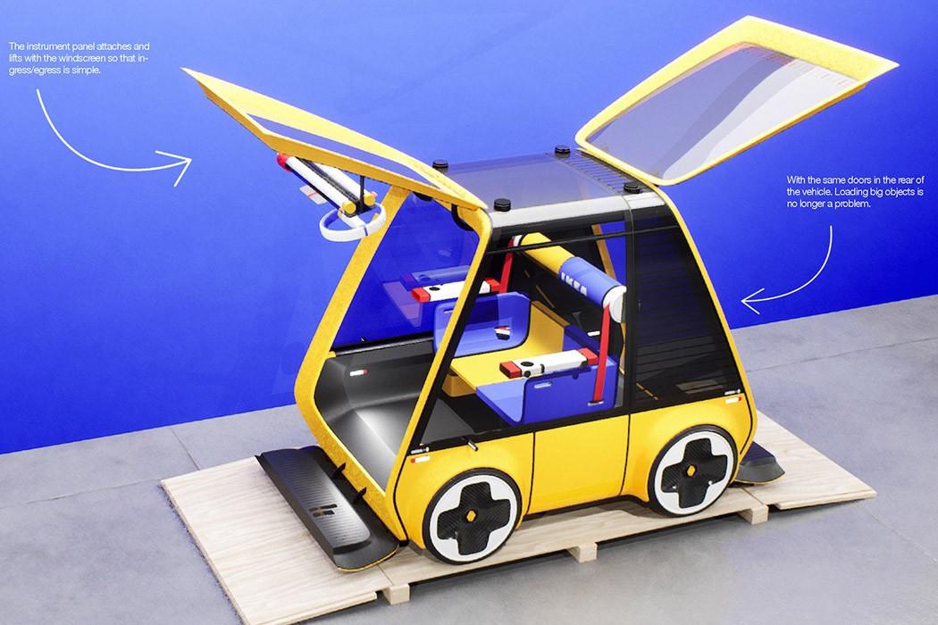 """Ikea e Renault apresentam o Höga, o carro """"quebra-cabeça"""""""