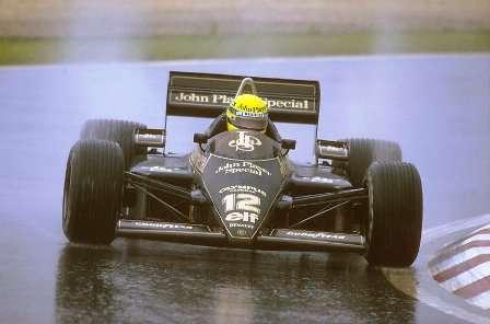Primeira vitória de Senna, em Portugal, a bordo da Lotus 97T