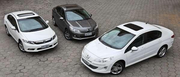 408 e C4 Lounge superam Civic em briga de versões top